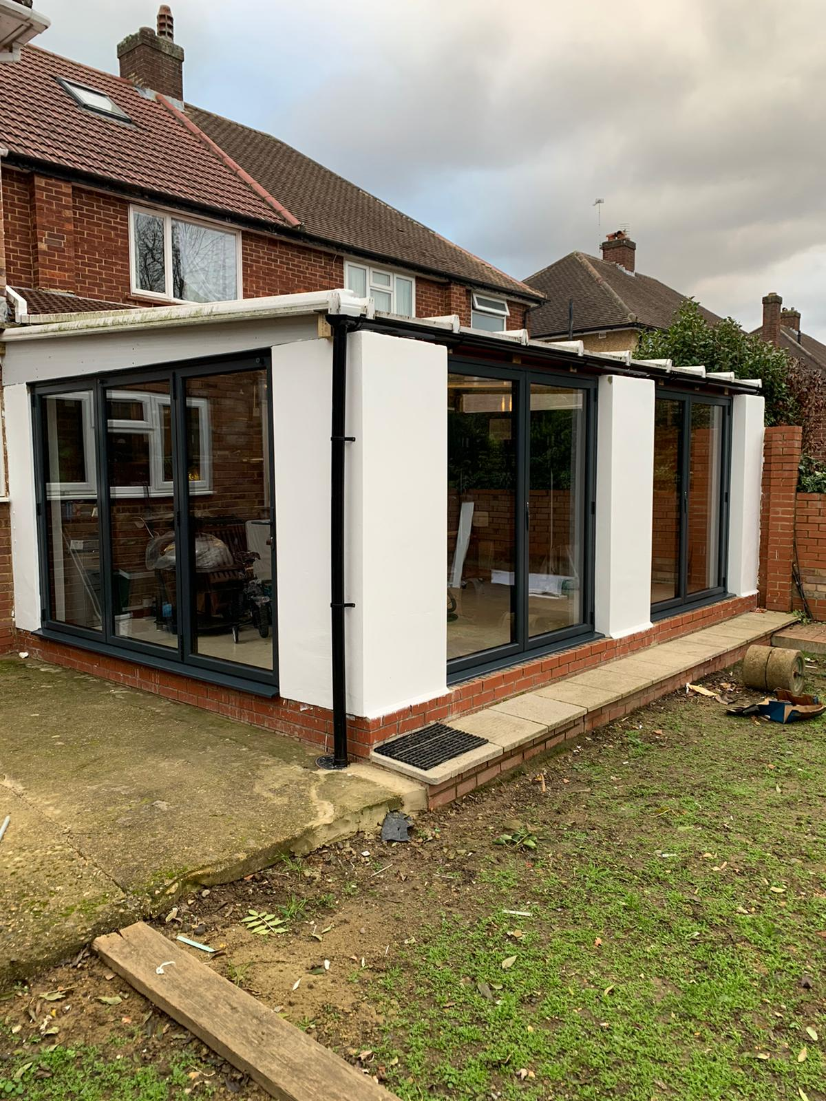 Extension with bifold doors on two aspects