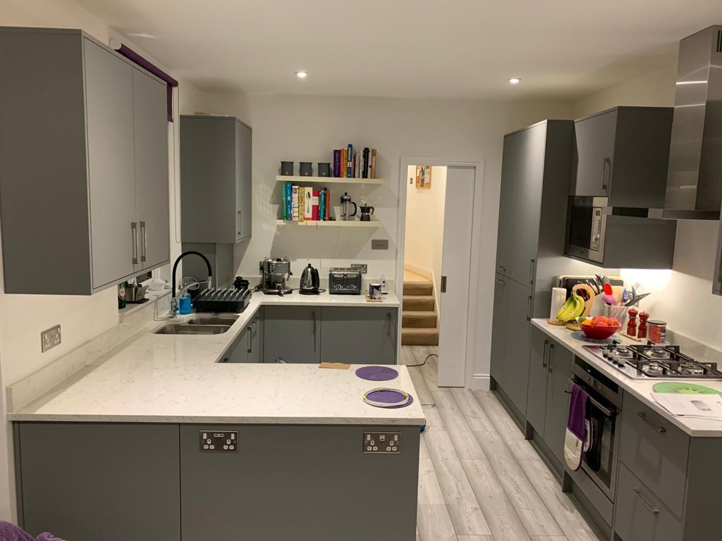 Grey kitchen refit