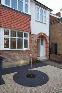 Exterior Front of Refurbished House in Hanwell Rd